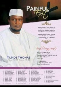 Obituary picture of Tunde Thomas